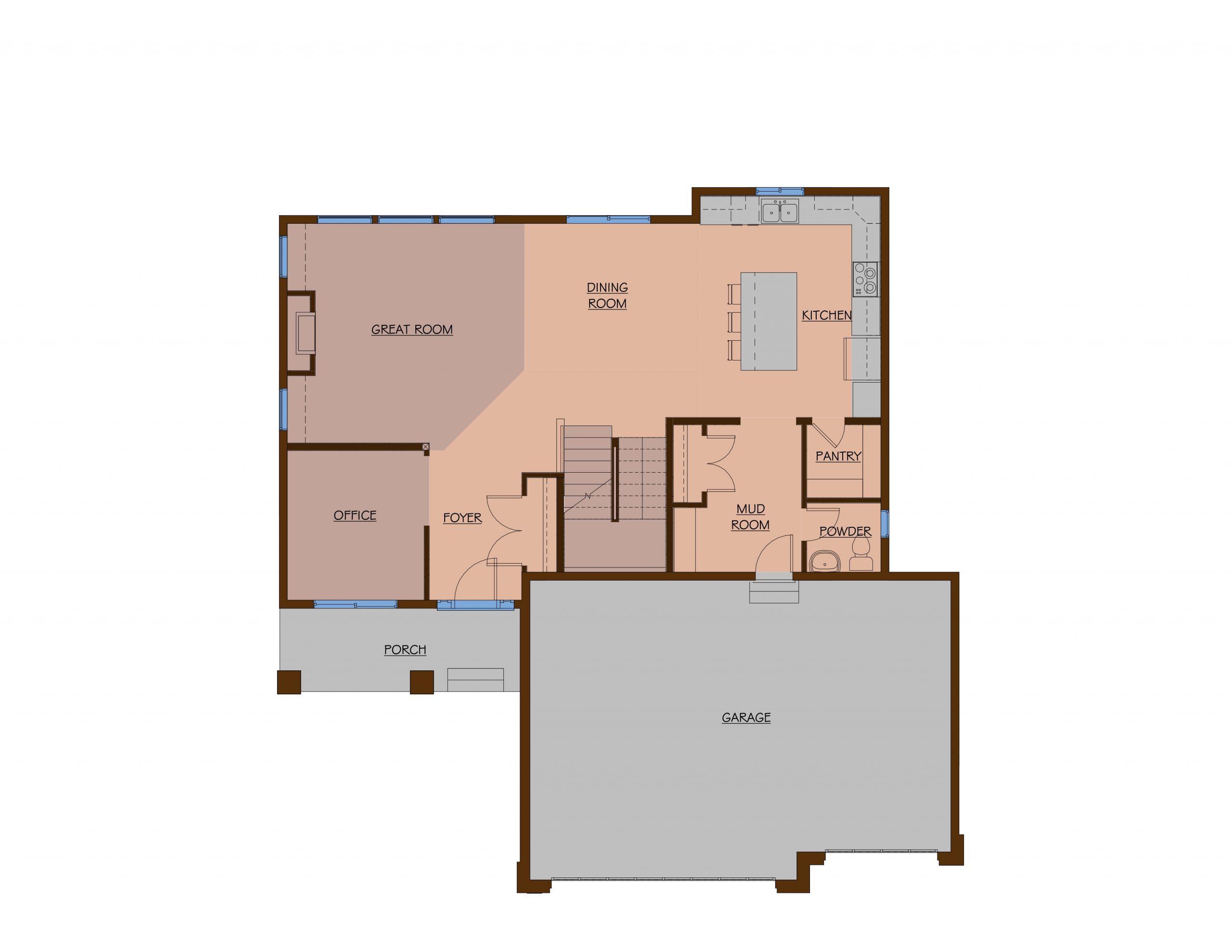 OneTenTen Homes Payton Platinum Main Level Rendering